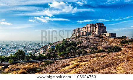 Panorama of Mehrangarh Fort, Jodhpur, Rajasthan, India