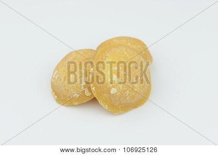 Lump Of Palm Sugar, Jaggery, Isolate Background