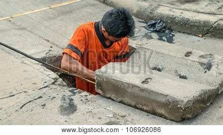 Working For Drain Cleaning