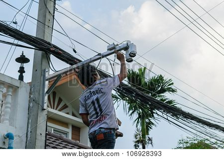 Working To Install Cctv System