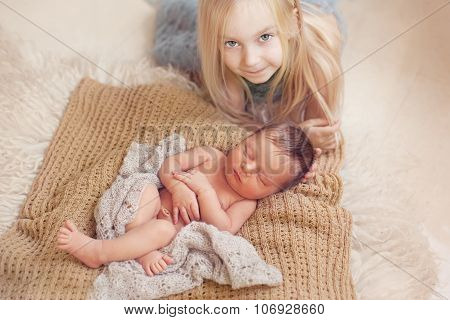 Healthy Newborn Baby Sleeping
