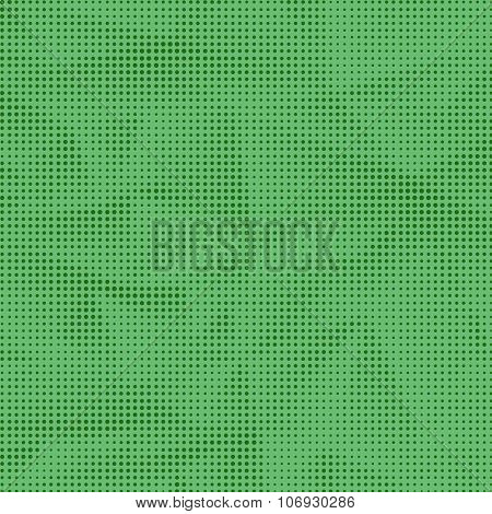 Dots on Green Background. Halftone Texture.