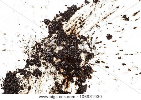 Mud splat pattern isolated on a white background.