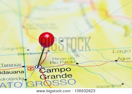 Campo Grande pinned on a map of Brazil