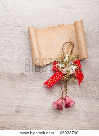 Letter to Santa Claus. Christmas wood decorations.