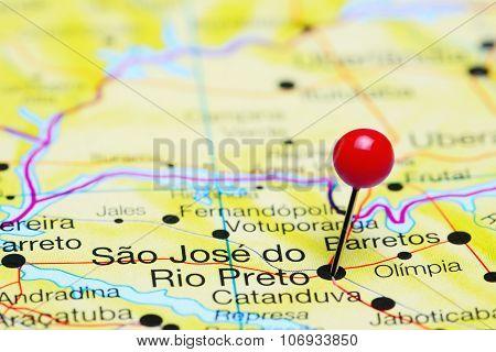 Sao Jose do Rio Preto pinned on a map