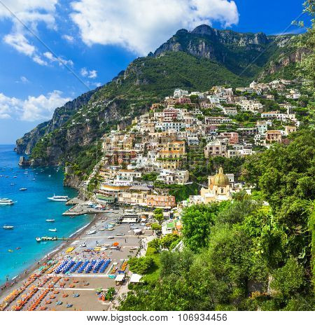 Italian holidays - beautiful Positano Amalfi coast