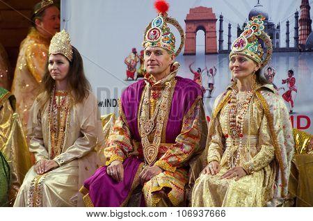 Royal Indian Family In Luxury Wear