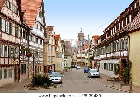 Weil der Stadt street, Baden-Württemberg, Germany