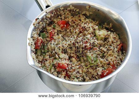 Prepared Quinoa Recipe In A Pan
