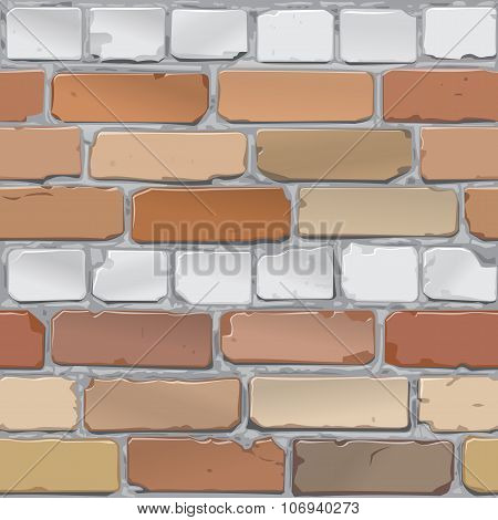 Brick wall. Brick gray, red. Background.Vector