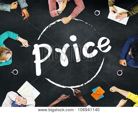 Price Cost Sell Marketing Strategy Concept