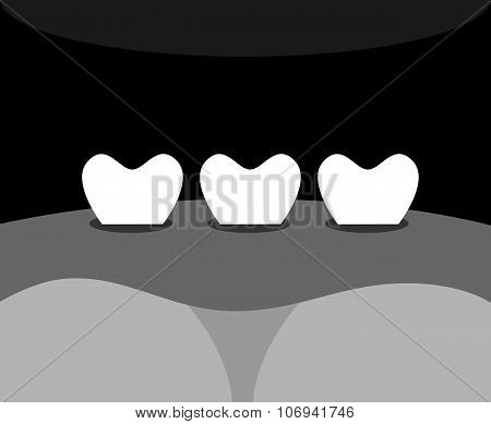 Teeth Black And White