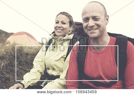 Hikers Camping Mountain Adventure Extreme Concept