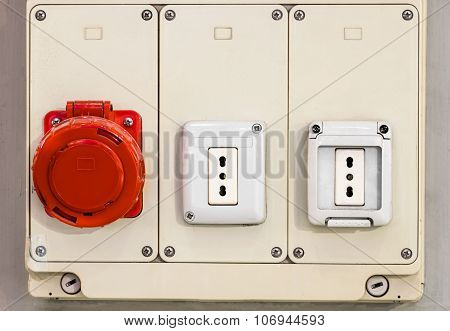 Electrical Panel With Electric Sockets