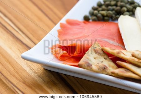 Smoked Salmon With Brie