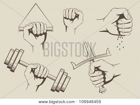 Palm Clenched Vector