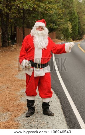 Santa hitch-Hiking