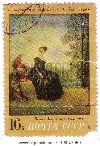 Ussr - Circa 1972: A Stamp Printed In The Ussr (russia) Shows A Painting