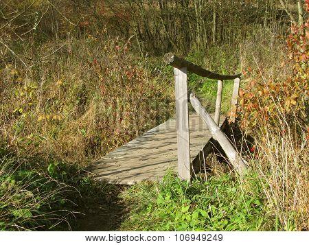 wooden gangplank