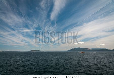 Cirrus Clouds Above The Puget Sound