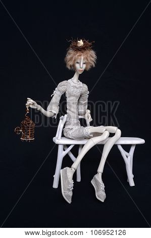 Porcelain Doll With Nest