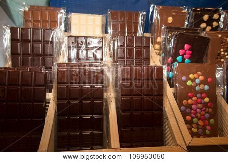 Dark And Brown Chocolate Tablets