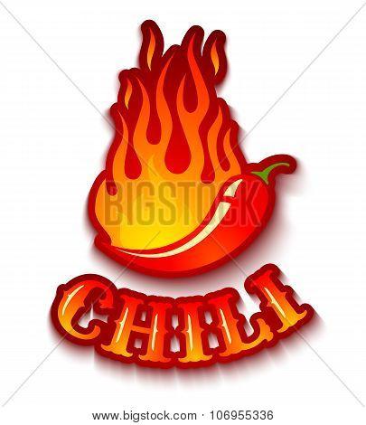 chili pepper in fire