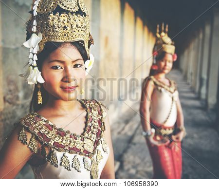 A beautiful young dancer posing for a picture Concept