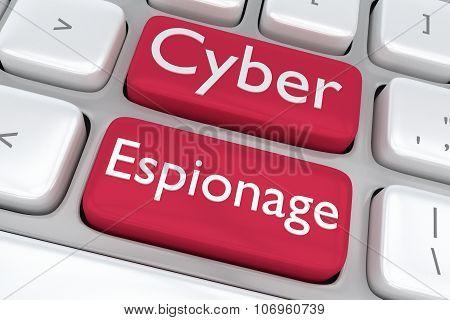 Cyber Espionage Concept