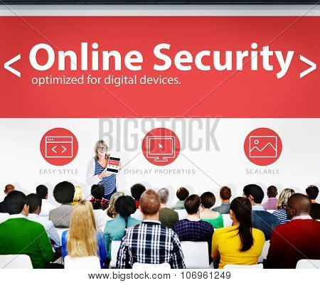 Digital Online Business Security Network Working Concept
