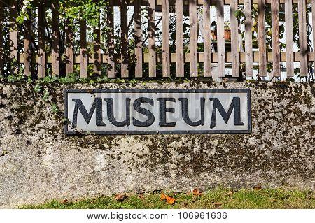 Museum Sign In Hallstatt