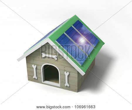 Doghouse With Solar Panels