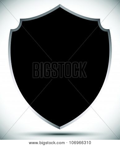 Shield Shape For Protection, Defense Concept. Vector.