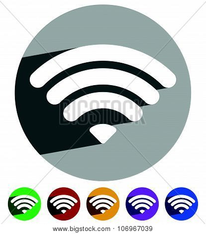 Signal Strength Indicator Template. (wi-fi, Wireless Connection, Antenna Signal Strength)