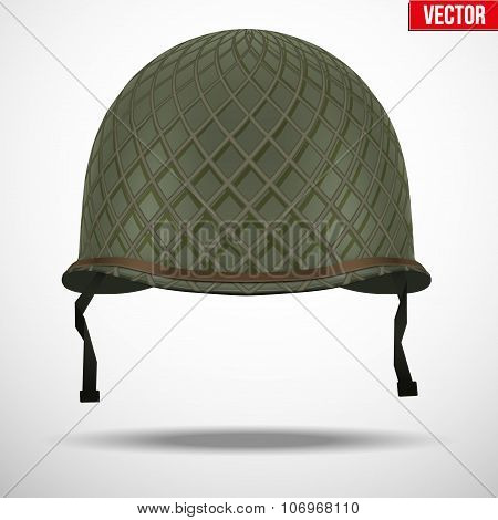 Military US helmet M1 WWII with net