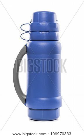 The blue thermos.