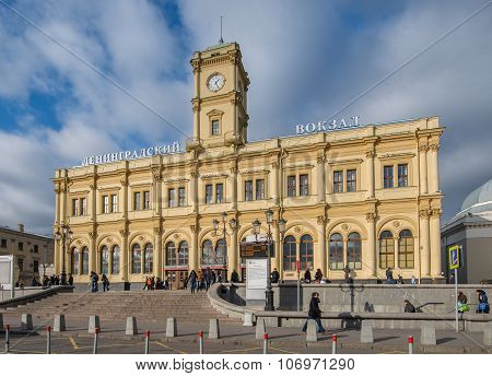 Leningrad Station In Moscow.