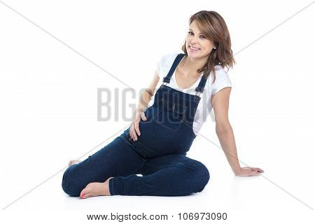 beautiful Portrait of young pregnant woman
