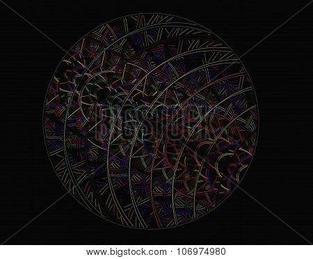 Abstract Fractal Image