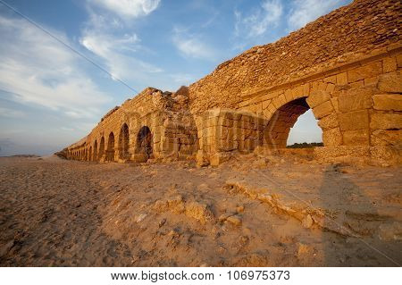 The Arches Of Ancient Roman Aqueduct