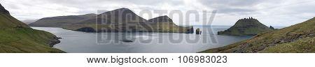 Panorama Of Vagar And Tindholmur