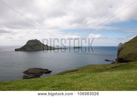 Gasholmur And Tindholmur On The Faroe Islands