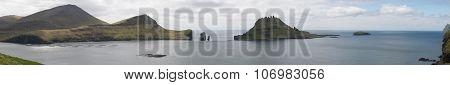 Panorama Of Vagar, Gasholmur And Tindholmur