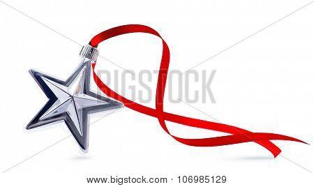 Art Christmas Decoration On White Background