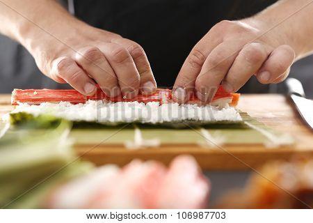 Japanese restaurant, sushi.