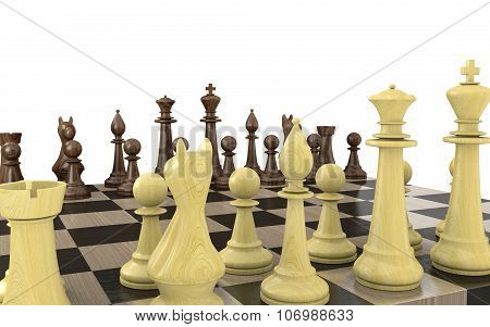 Strategic game of chess from the light side point of view