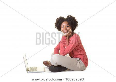 Teen on a computer