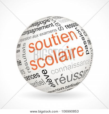 French Tutoring Theme Sphere With Keywords