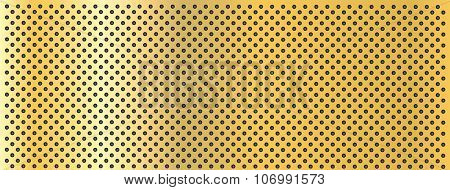 High resolution concept conceptual yellow golden metal stainless steel aluminum perforated pattern texture mesh banner background